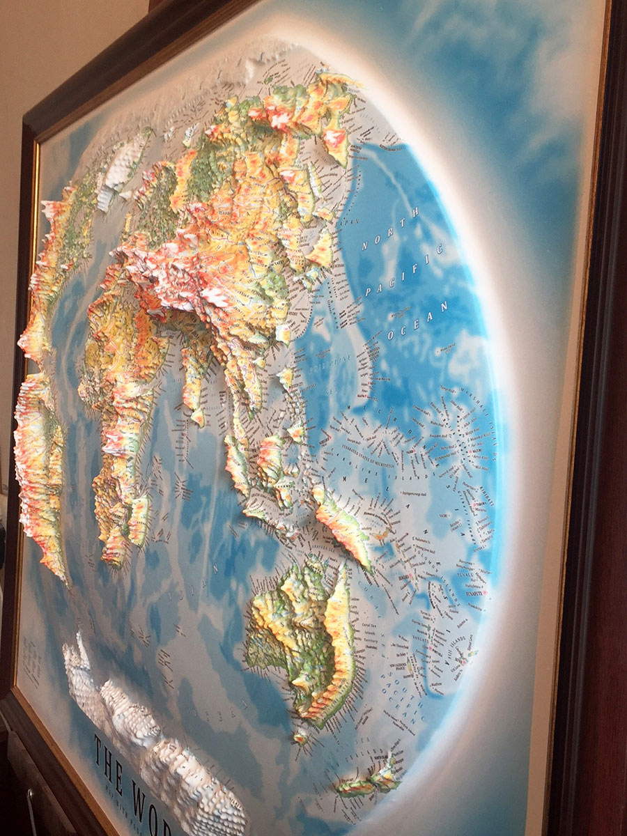Mapshop Gr World 3d Anaglyfoi Xartes Raised Relief Maps